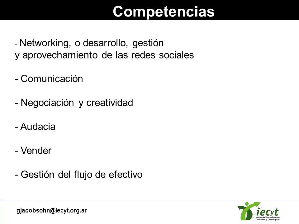 Competencias - Comunicación - Negociación y creatividad - Audacia