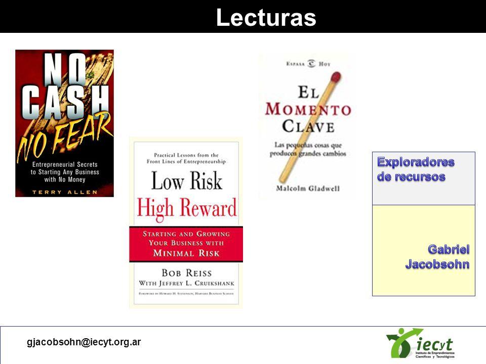 Lecturas Exploradores de recursos Gabriel Jacobsohn