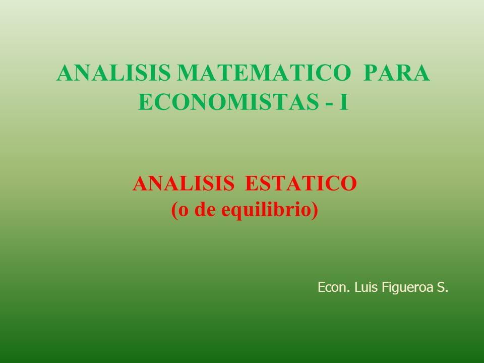 ANALISIS MATEMATICO PARA ECONOMISTAS - I