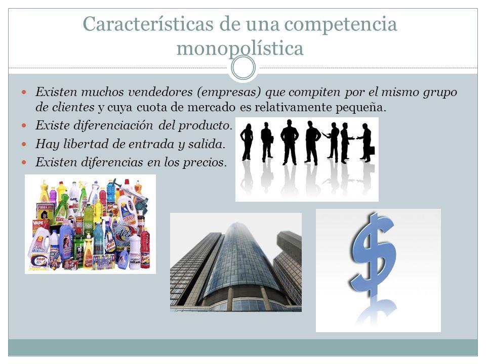 Características de una competencia monopolística