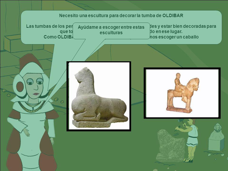 Necesito una escultura para decorar la tumba de OLDIBAR