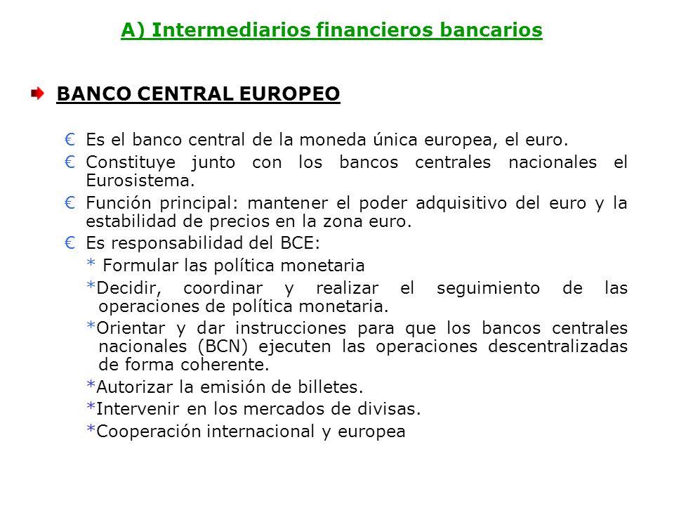 A) Intermediarios financieros bancarios