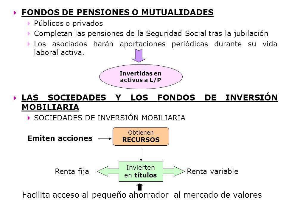 Invertidas en activos a L/P