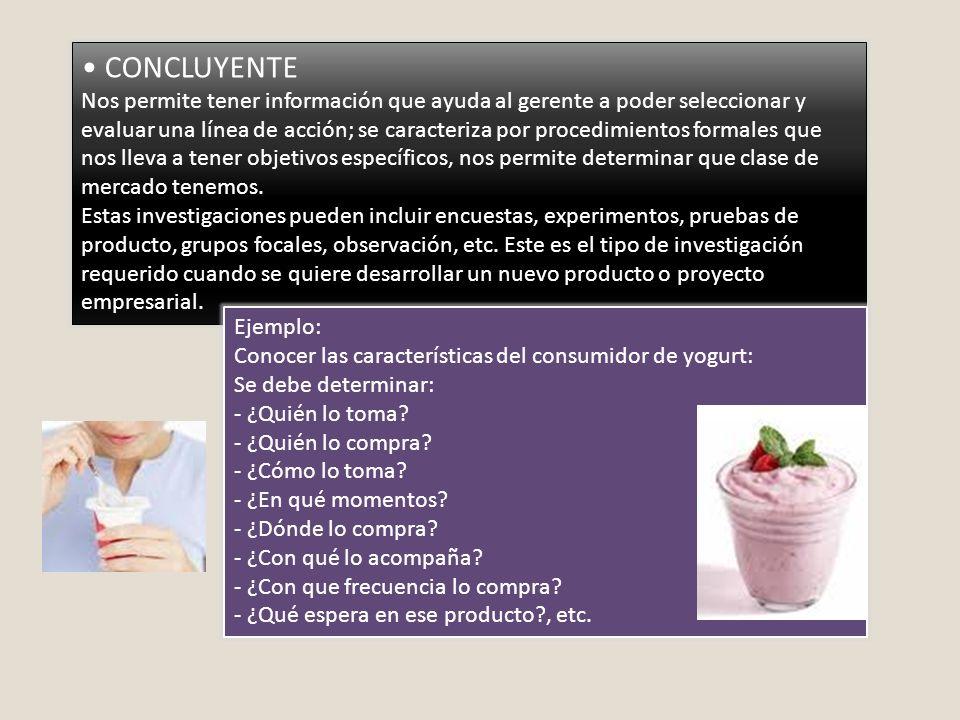 • CONCLUYENTE