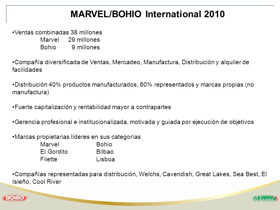 MARVEL/BOHIO International 2010