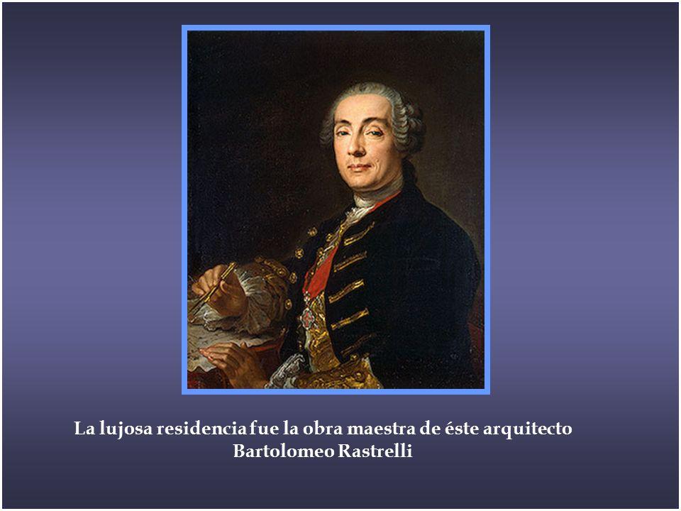 La lujosa residencia fue la obra maestra de éste arquitecto Bartolomeo Rastrelli