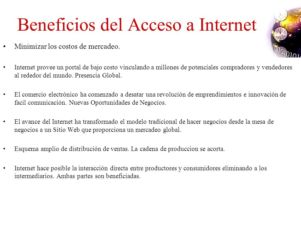 Beneficios del Acceso a Internet
