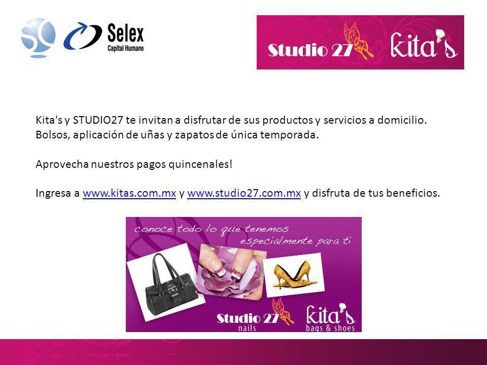 Kita s y STUDIO27 te invitan a disfrutar de sus productos y servicios a domicilio. Bolsos, aplicación de uñas y zapatos de única temporada.