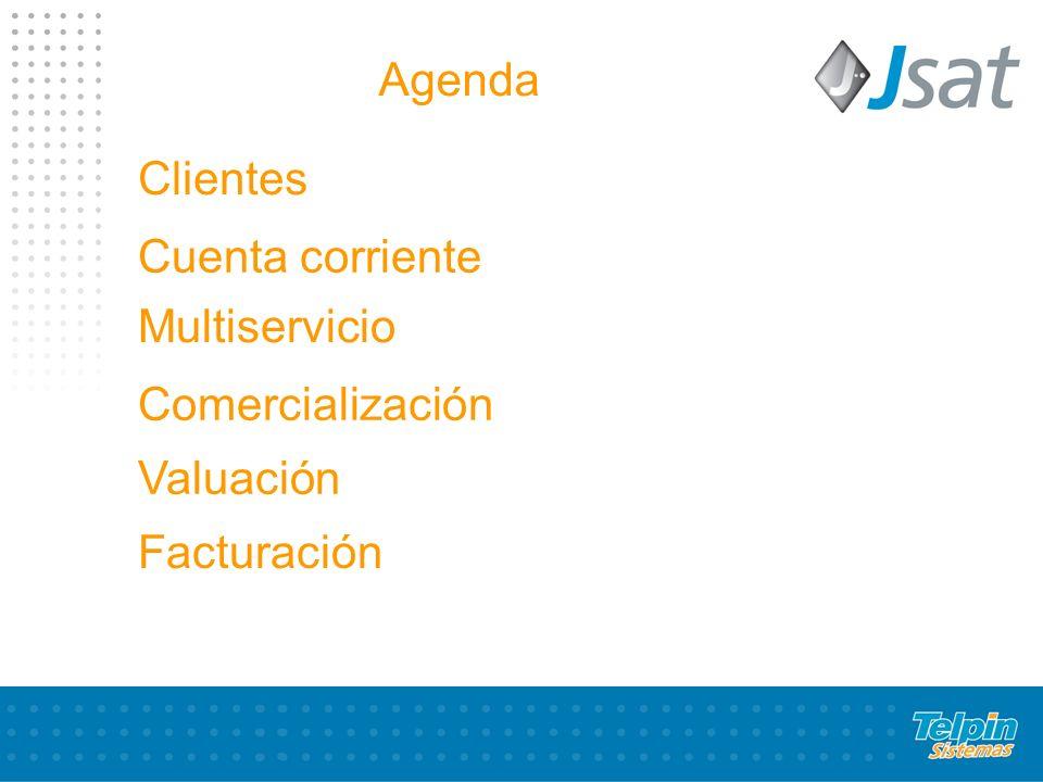 Agenda Clientes Cuenta corriente Multiservicio Comercialización Valuación Facturación