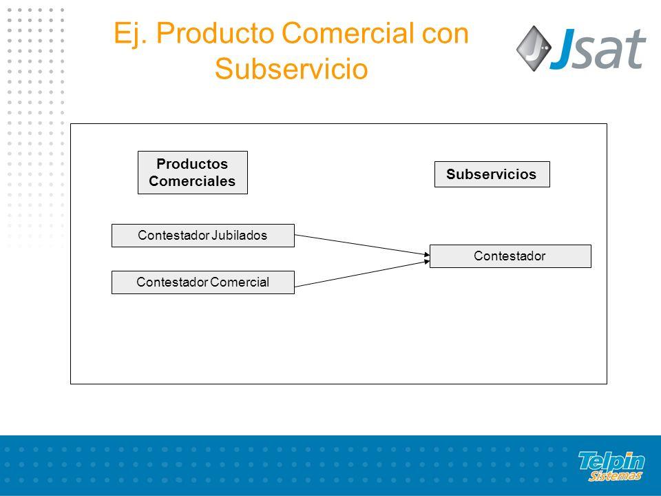Ej. Producto Comercial con Subservicio
