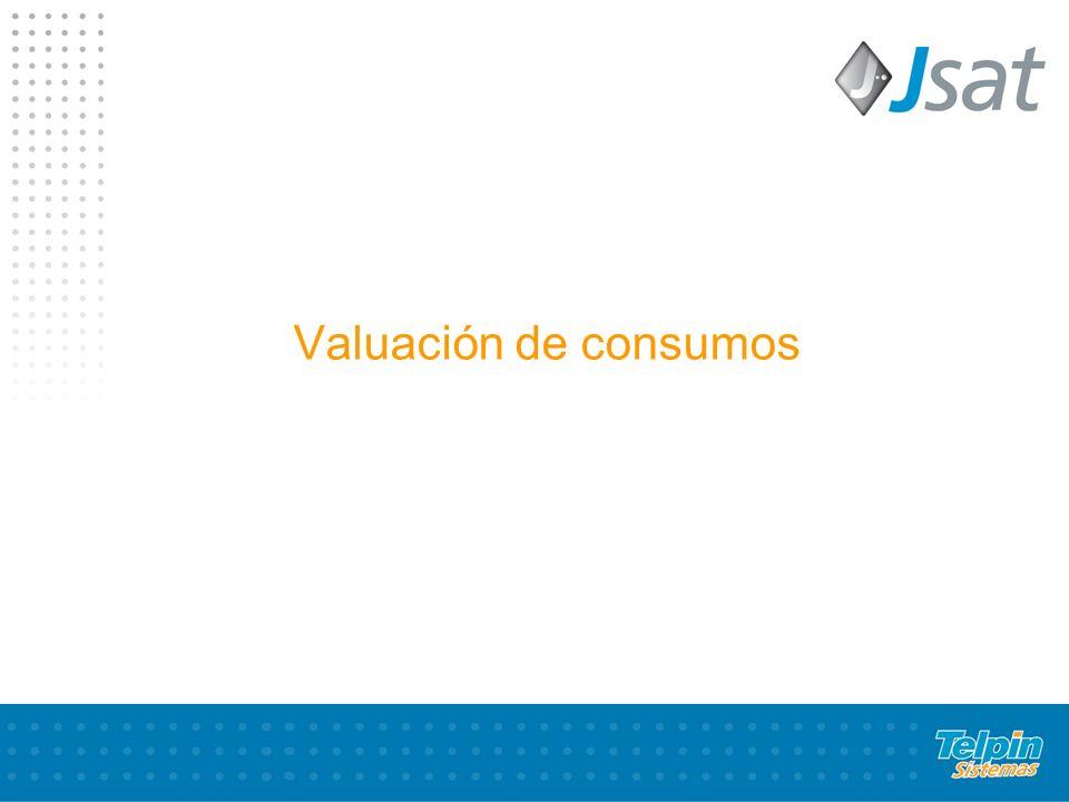 Valuación de consumos
