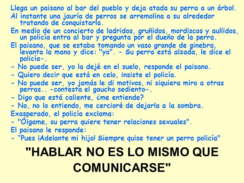 HABLAR NO ES LO MISMO QUE COMUNICARSE