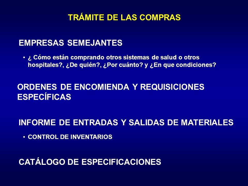 ORDENES DE ENCOMIENDA Y REQUISICIONES ESPECÍFICAS