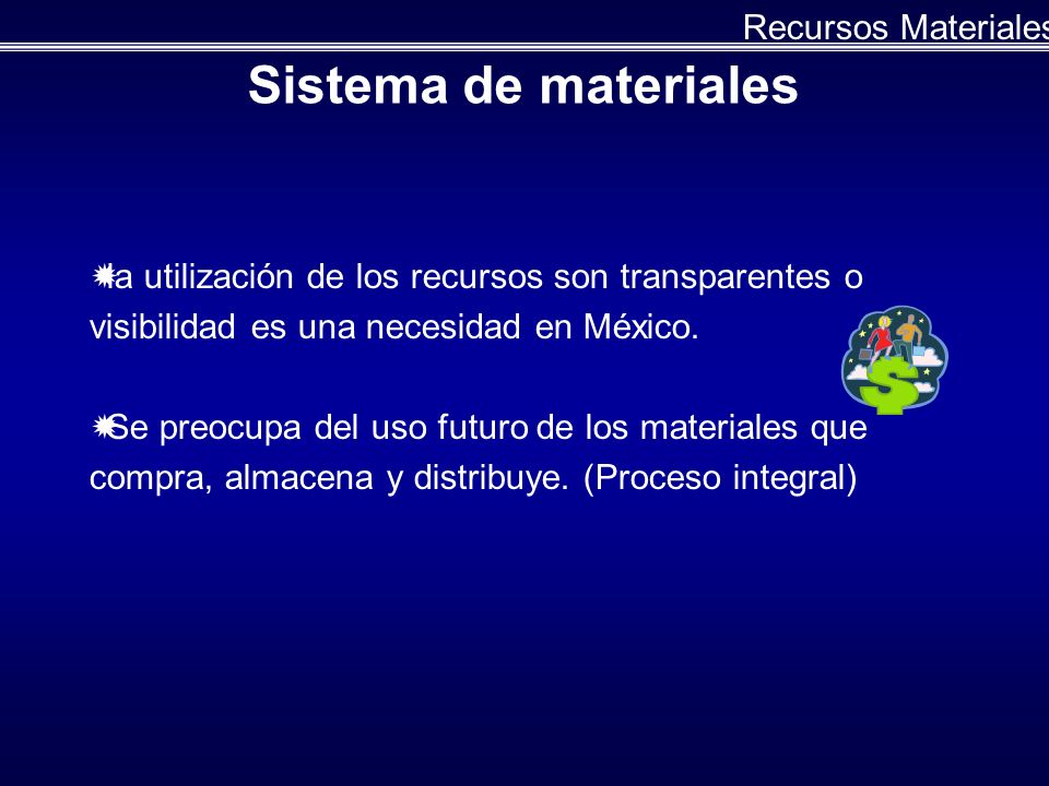Sistema de materiales Recursos Materiales