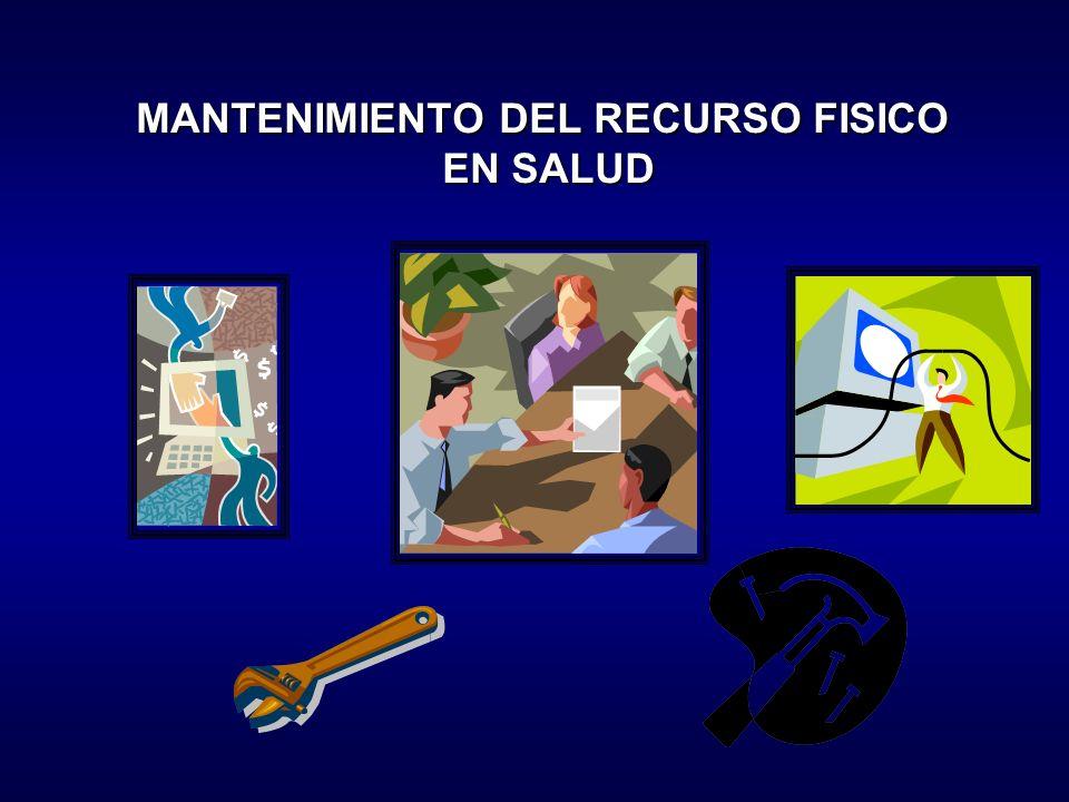 MANTENIMIENTO DEL RECURSO FISICO EN SALUD
