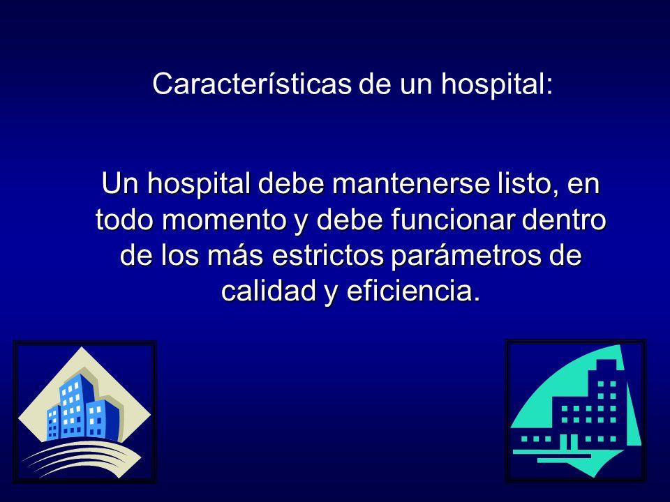 Características de un hospital: