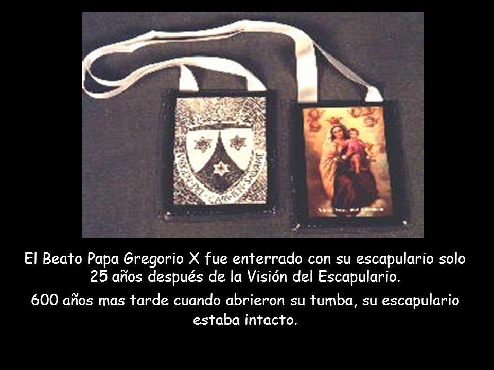 El Beato Papa Gregorio X fue enterrado con su escapulario solo 25 años después de la Visión del Escapulario.