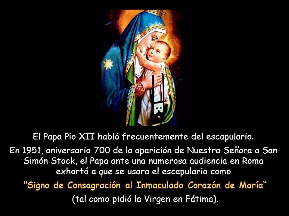Signo de Consagración al Inmaculado Corazón de María
