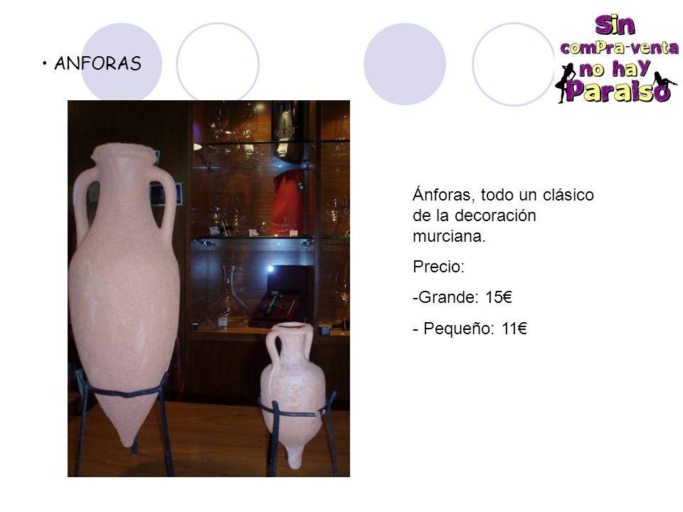 ANFORAS Ánforas, todo un clásico de la decoración murciana. Precio: