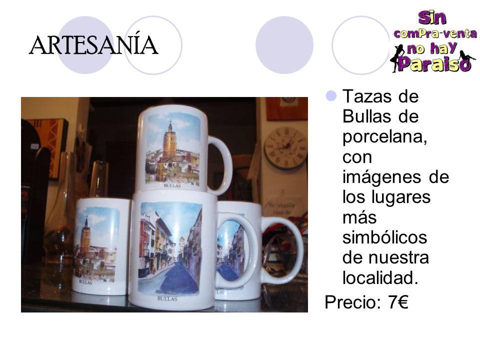 ARTESANÍA Tazas de Bullas de porcelana, con imágenes de los lugares más simbólicos de nuestra localidad.