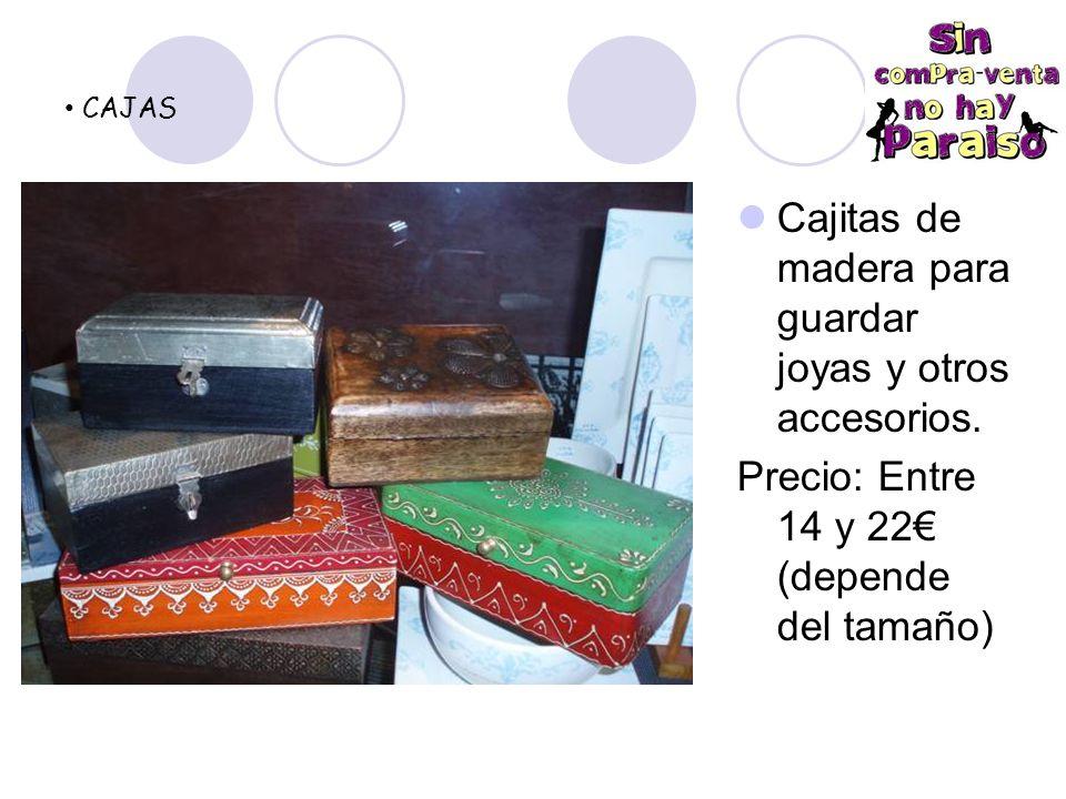 Cajitas de madera para guardar joyas y otros accesorios.