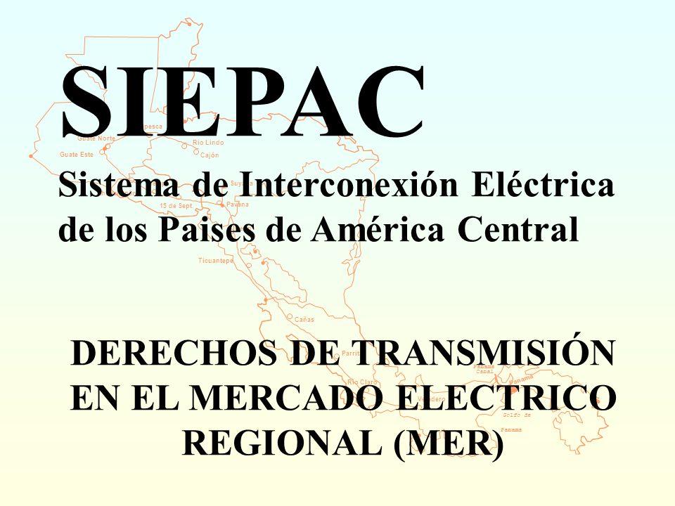 DERECHOS DE TRANSMISIÓN EN EL MERCADO ELECTRICO REGIONAL (MER)