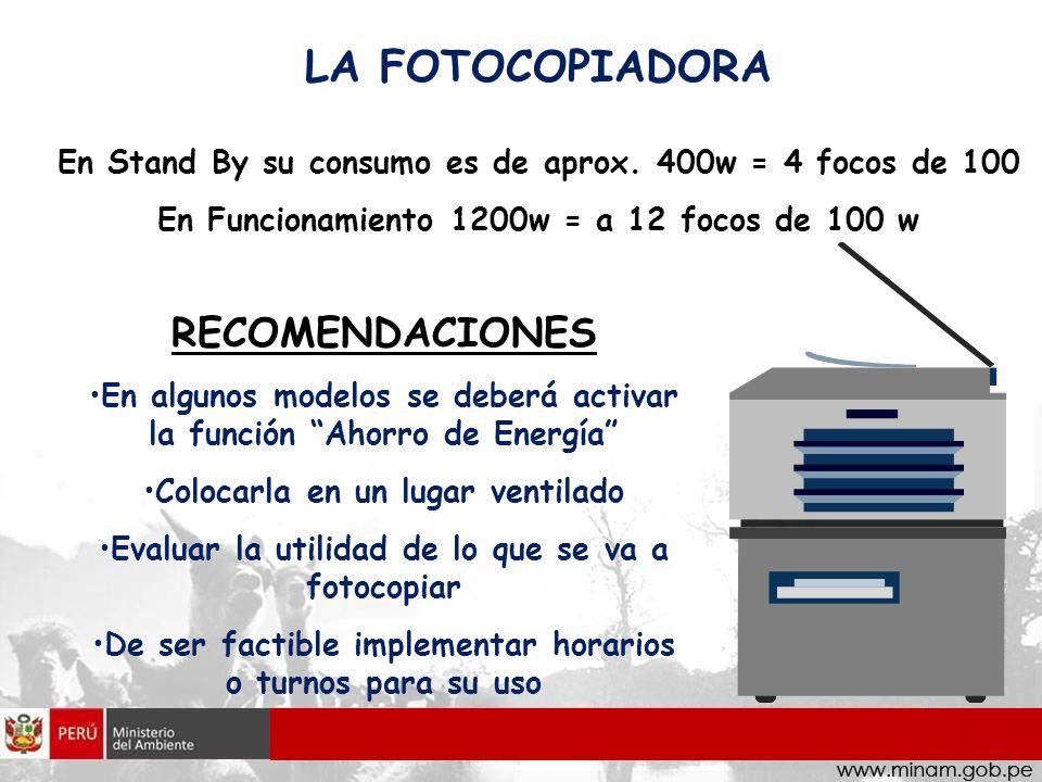 LA FOTOCOPIADORA RECOMENDACIONES