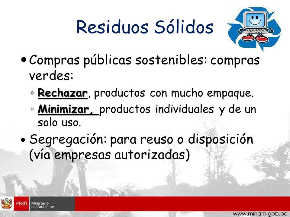 Residuos Sólidos Compras públicas sostenibles: compras verdes: