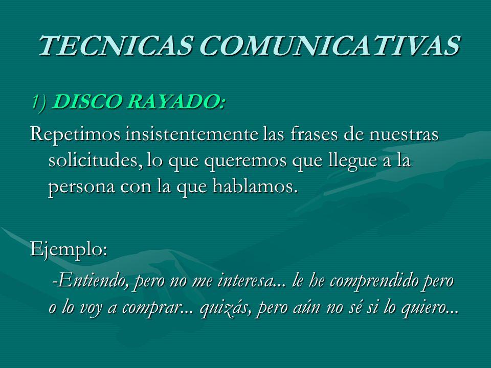 TECNICAS COMUNICATIVAS