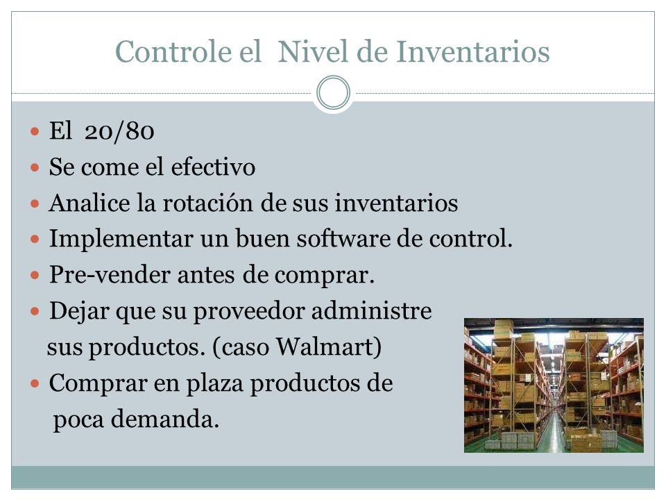 Controle el Nivel de Inventarios
