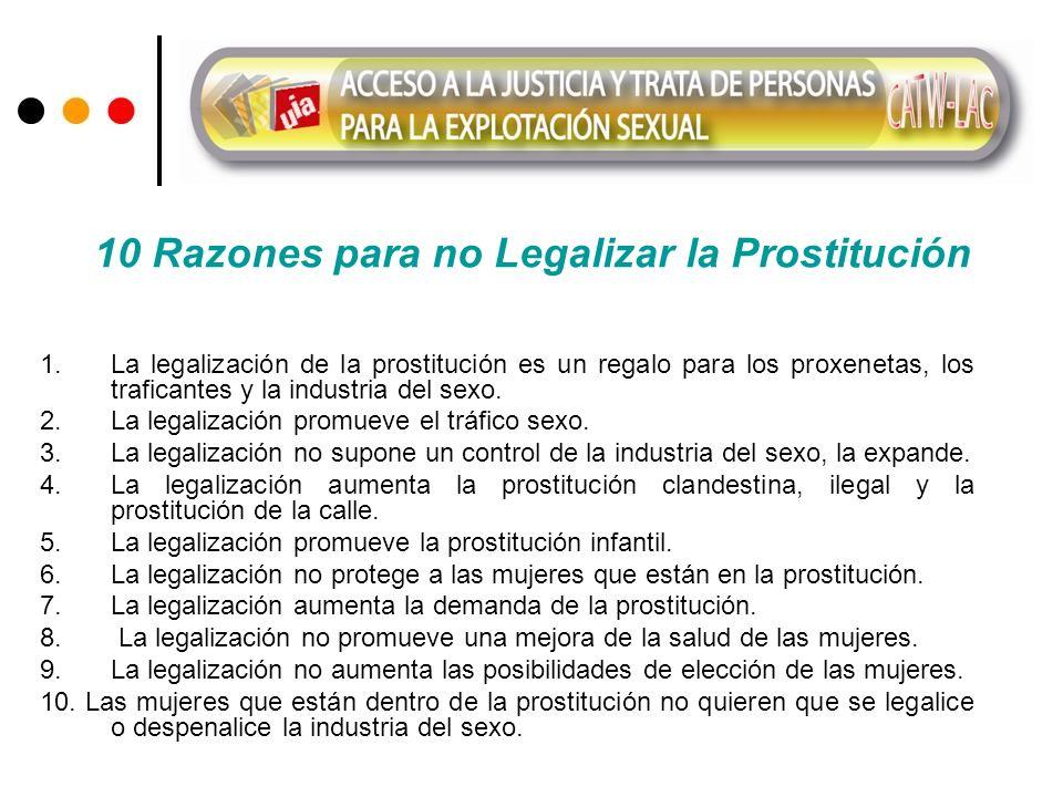 10 Razones para no Legalizar la Prostitución