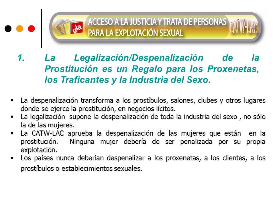 1. La Legalización/Despenalización de la