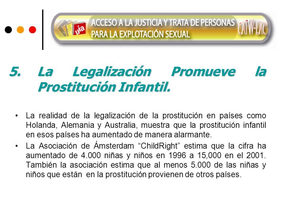 5. La Legalización Promueve la Prostitución Infantil.