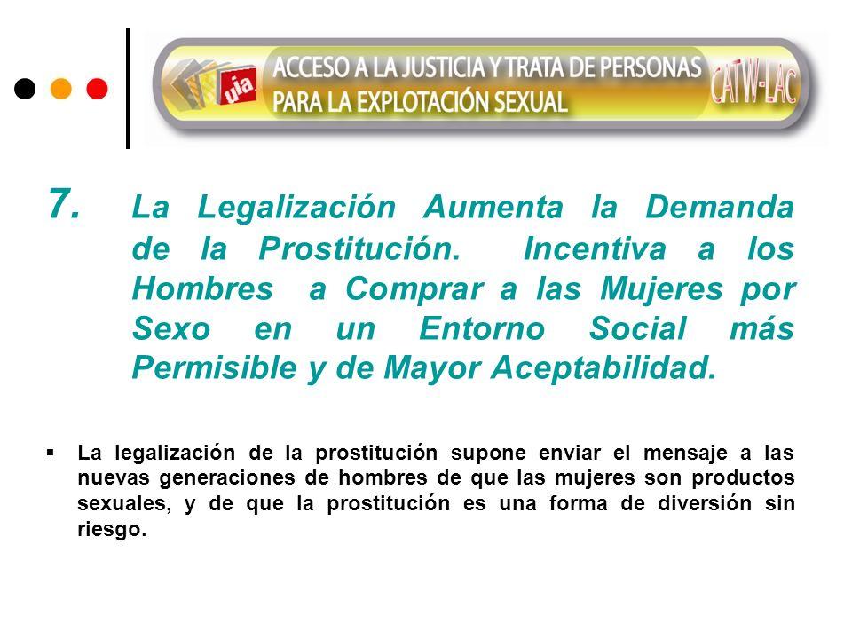 7. La Legalización Aumenta la Demanda. de la Prostitución