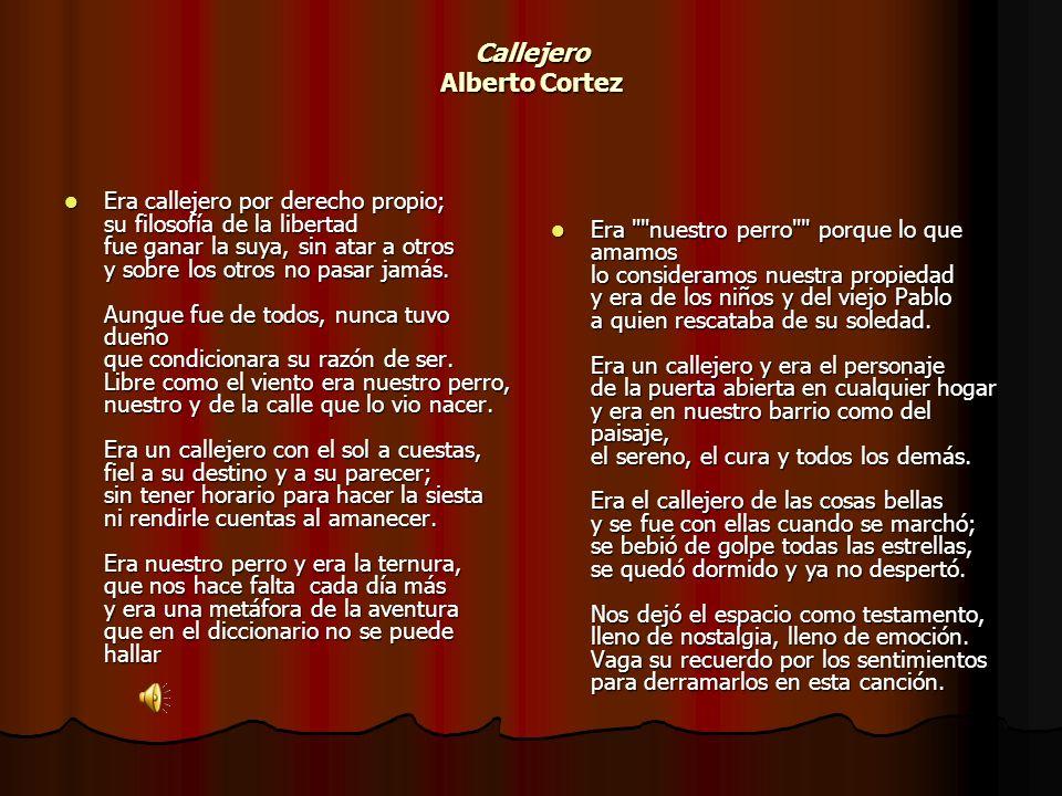 Callejero Alberto Cortez