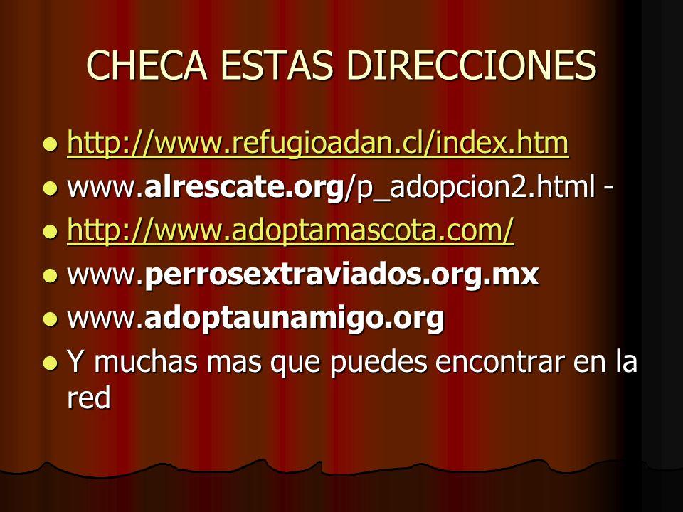 CHECA ESTAS DIRECCIONES