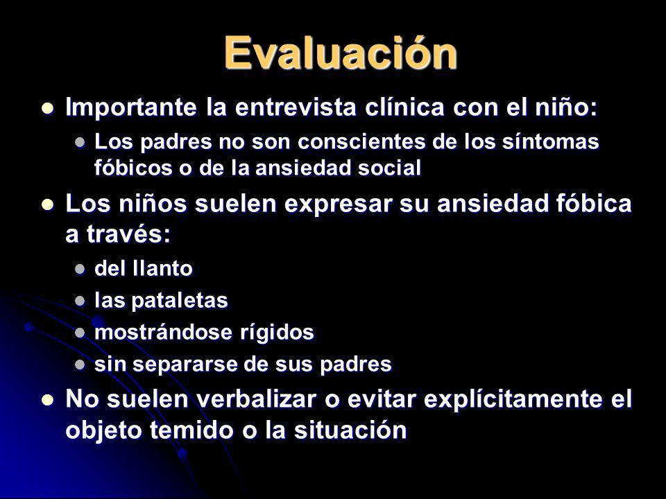 Evaluación Importante la entrevista clínica con el niño: