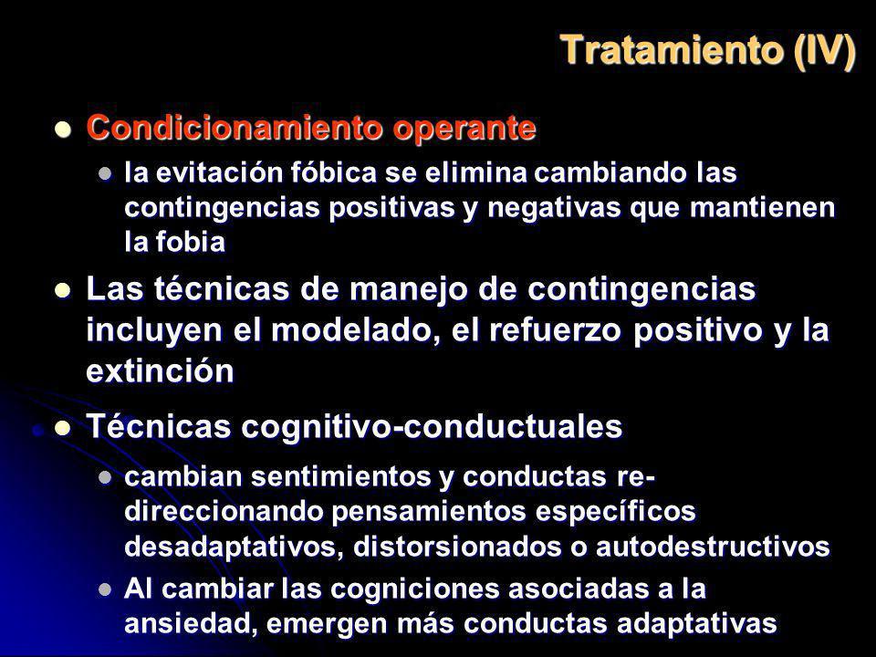 Tratamiento (IV) Condicionamiento operante