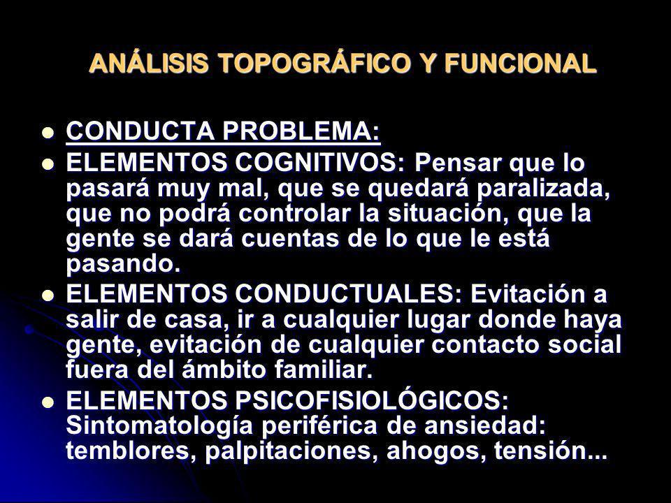 ANÁLISIS TOPOGRÁFICO Y FUNCIONAL