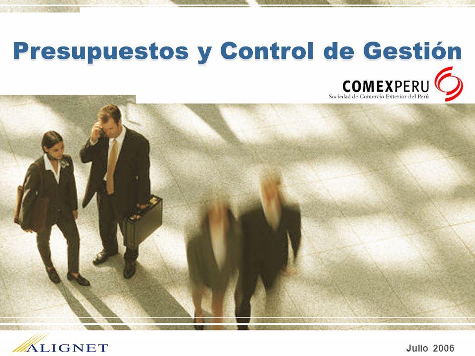 Presupuestos y Control de Gestión