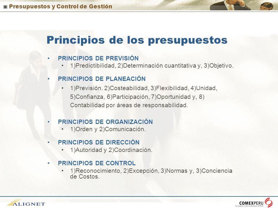 Principios de los presupuestos