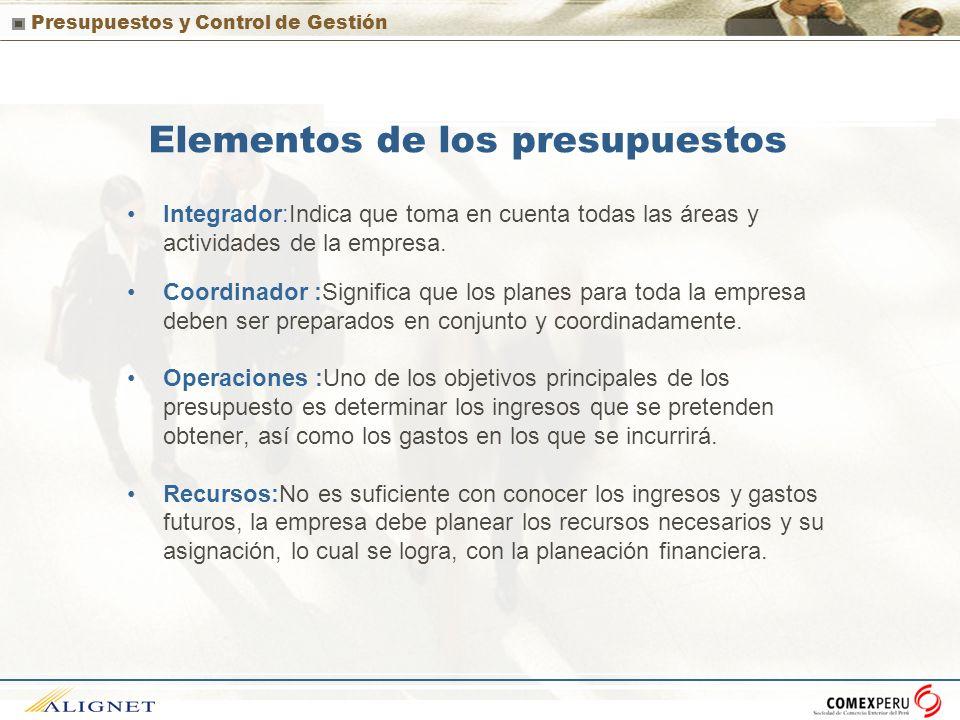 Elementos de los presupuestos
