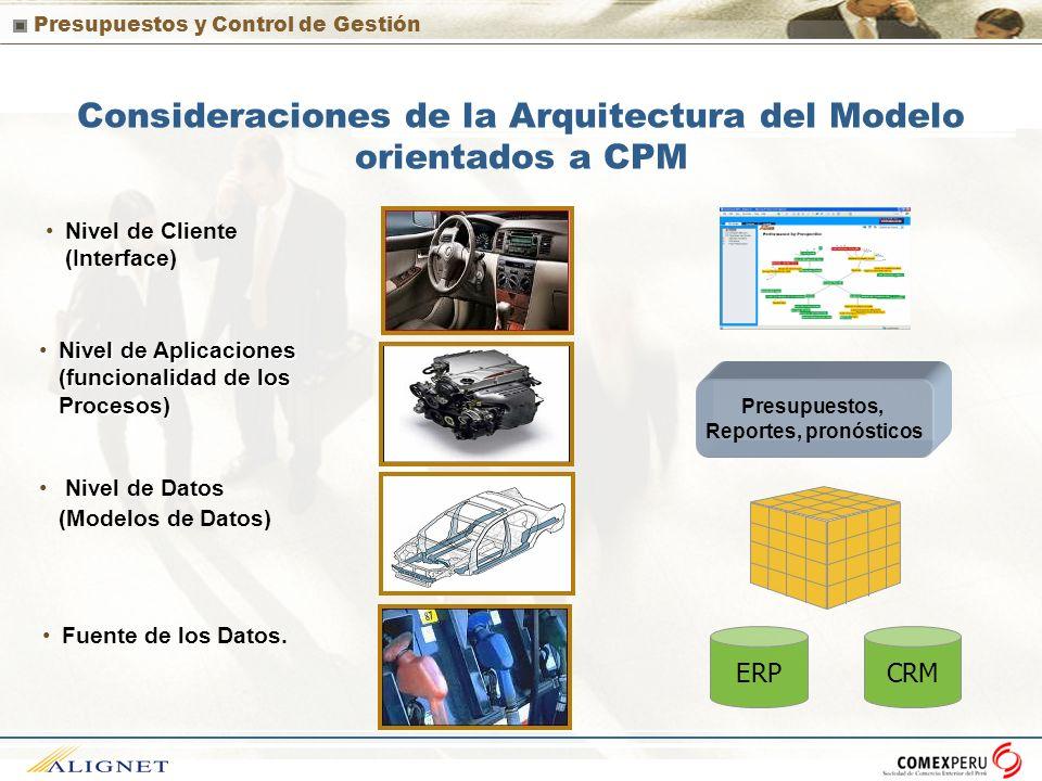 Consideraciones de la Arquitectura del Modelo orientados a CPM