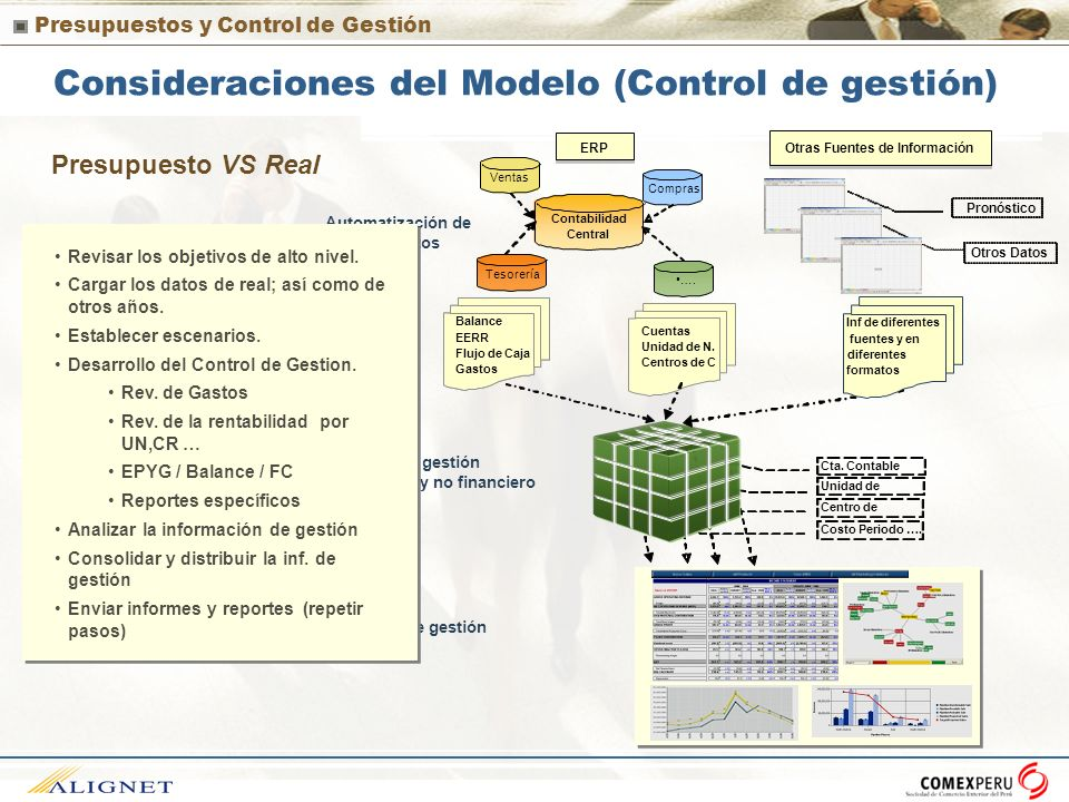 Consideraciones del Modelo (Control de gestión)