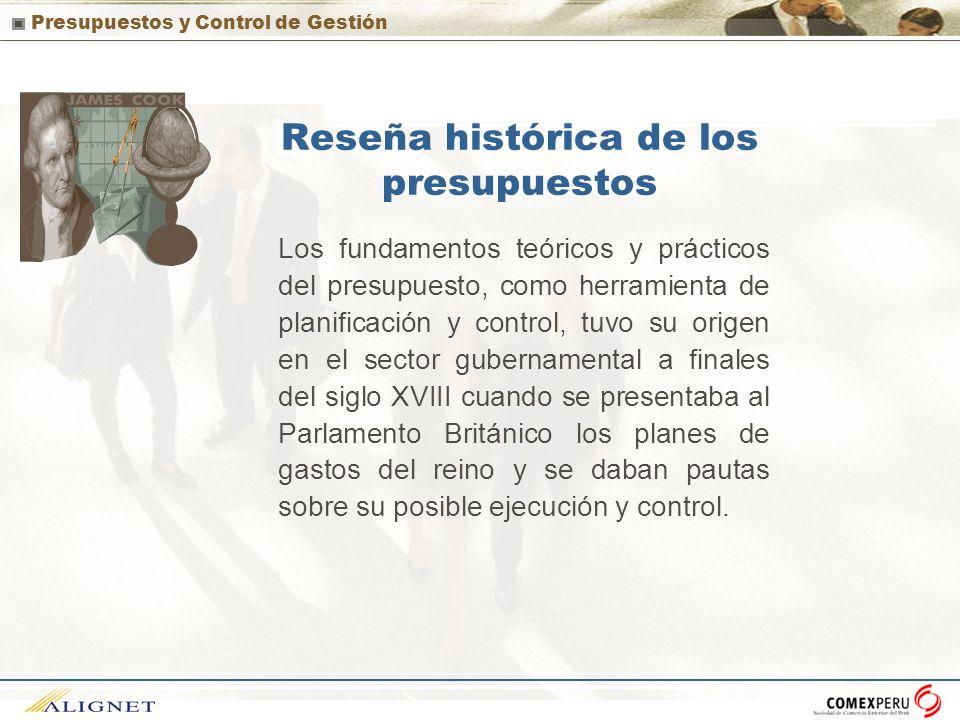 Reseña histórica de los presupuestos
