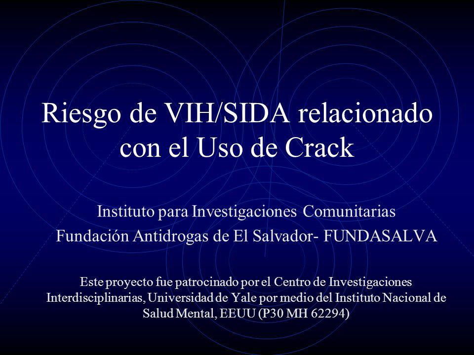 Riesgo de VIH/SIDA relacionado con el Uso de Crack