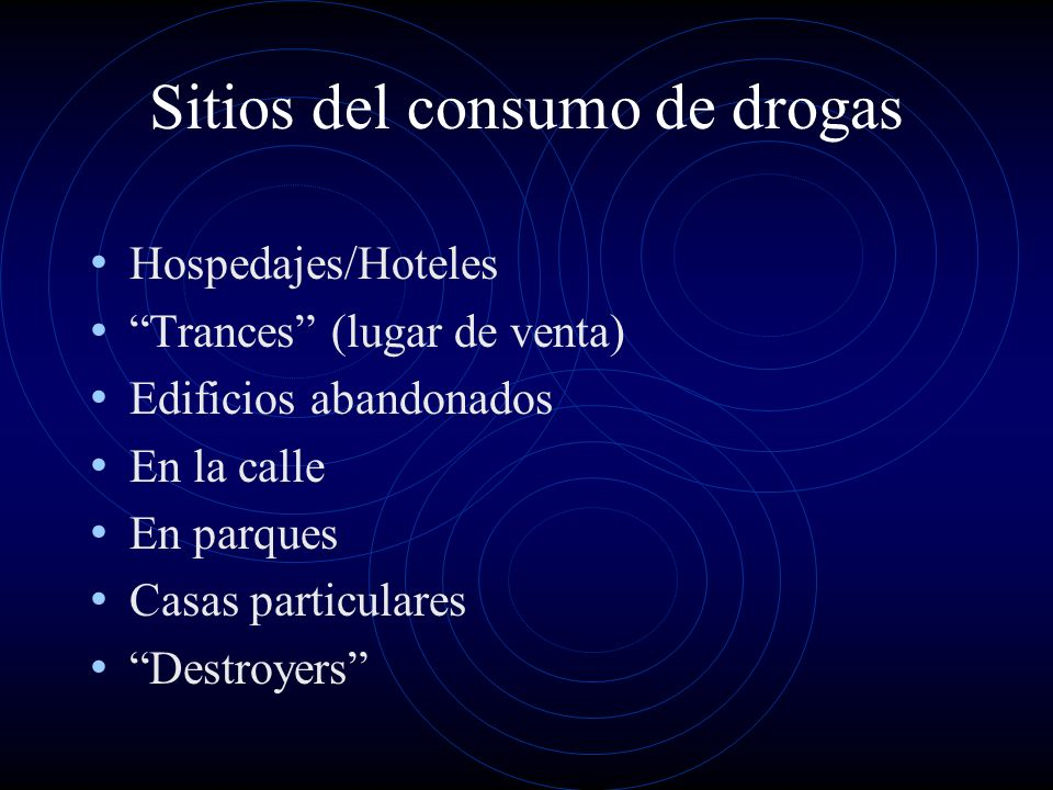 Sitios del consumo de drogas