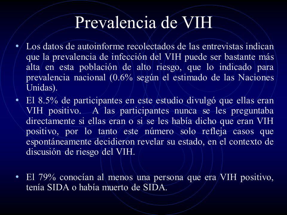 Prevalencia de VIH