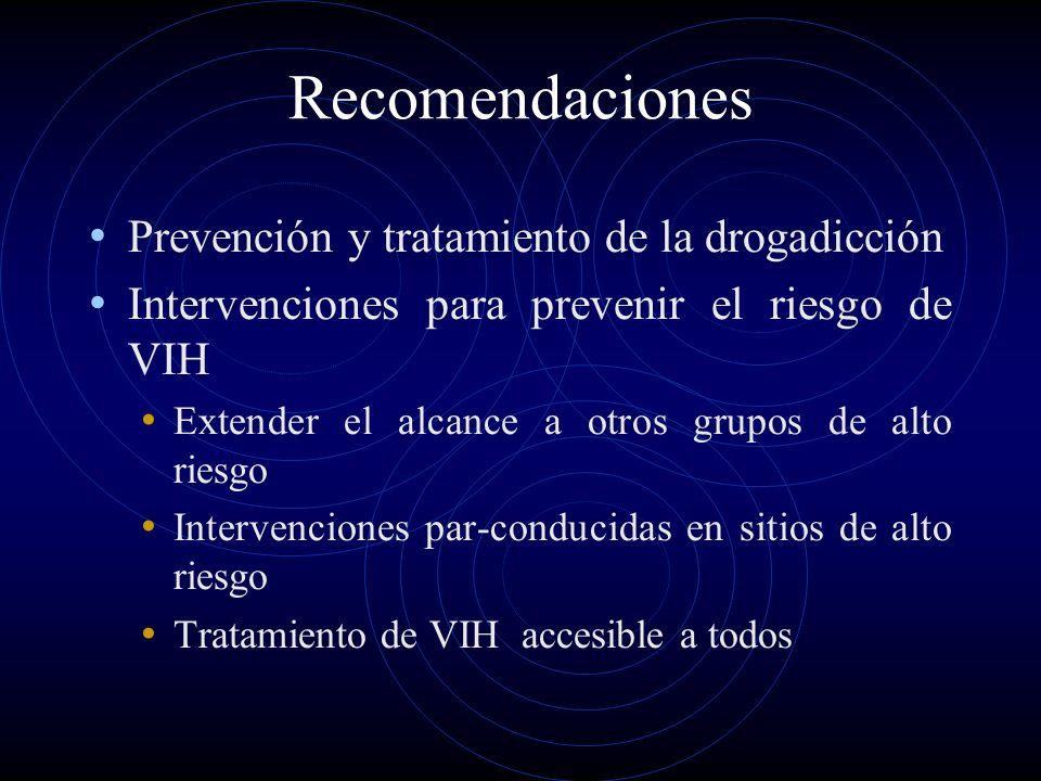 Recomendaciones Prevención y tratamiento de la drogadicción