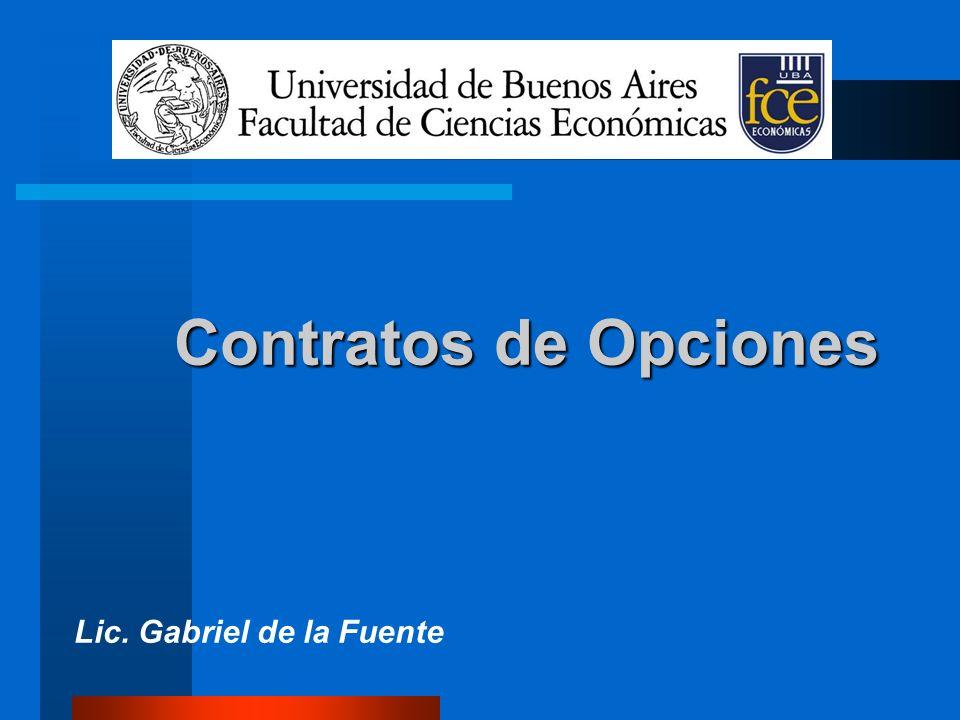 Contratos de Opciones Lic. Gabriel de la Fuente